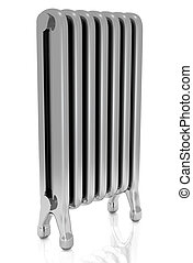 Radiator isolated over a white background