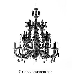 Luxury chandelier isolated on the white background