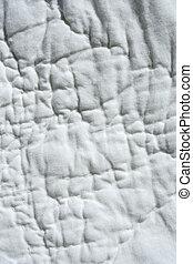 Handmade quilt background - White colour handmade quilt...