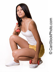 Healthy Lifestyle - Full body of an attractive young Asian...