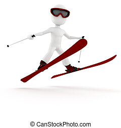 3d man extreme winter sport