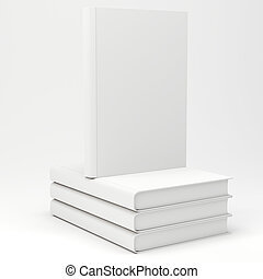 3d books with blank covers