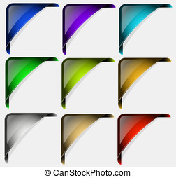 collection of colored vector corners