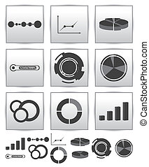Vector Infographics set icon. Swirl line graph - Vector...