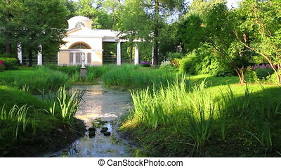 pavilion in Pavlovsk park St. Petersburg Russia