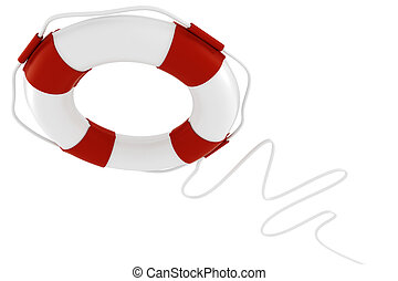 3d life buoy, on white background
