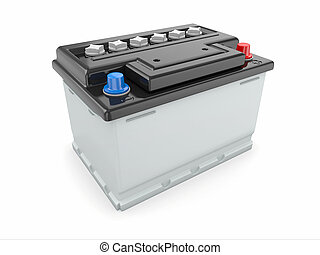 Car battery 3d - Car battery on white background...