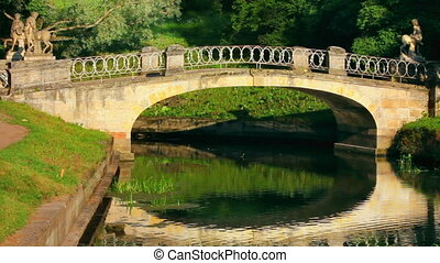 centaurs bridge in Pavlovsk park St. Petersburg Russia
