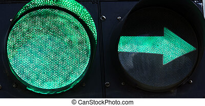 Green Traffic Light with Left Arrow