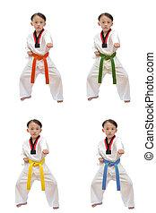taekwondo, Pojke