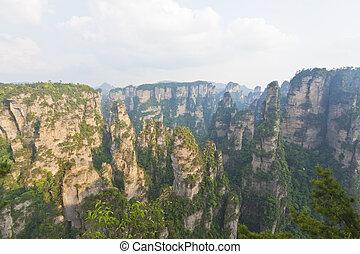 Zhangjiajie National Park in Hunan Province, China