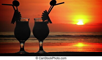 Cocktails at sunset 2