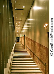 Elevated Lighted Interior Stairway - Elevated, lighted...