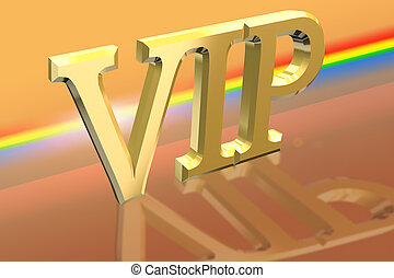 VIP or Very Important Person letter illustration over...