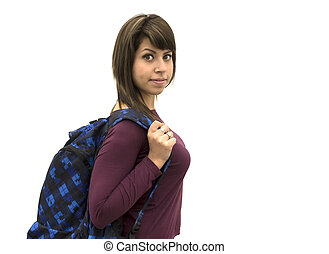 Hot student smiling