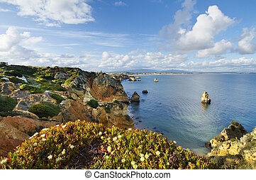 Natural coastline of Algarve