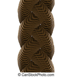 Braided Rope - A 3d rope illustration isolated over a white...