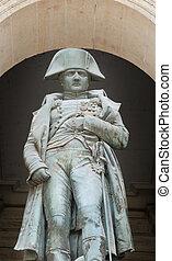 Napoleon. - Statue of Napoleon Bonaparte, Les Invalides,...