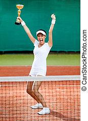 profissional, femininas, tênis, jogador, ganhado,...