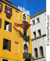 Apartment Windows, Venice Italy