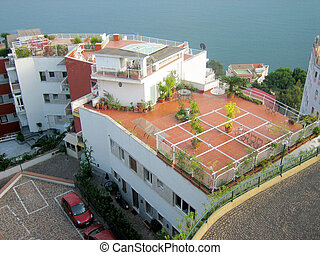 Place on a roof of house, Naples, Italy