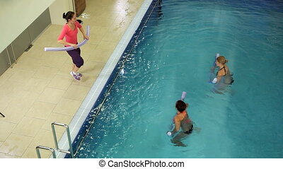 Aqua gymnastic - Instructor training women aqua gymnastic in...