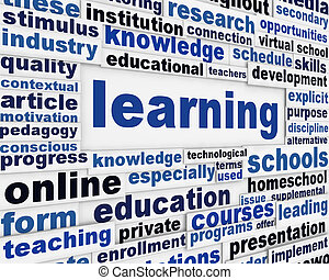 Learning poster concept Education message conceptual design