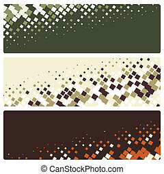 abstract mosaic banners