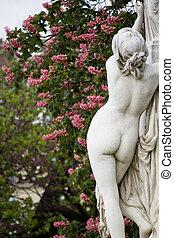 beautiful statues located on the Avenue des Champs-Elysees...