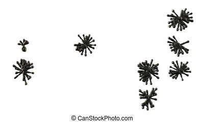 Set of black blobs or ink splashes.