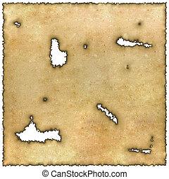Burned edges parchment