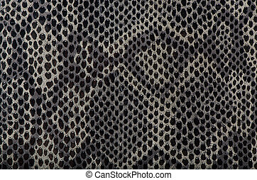Snake skin background - Closeup of snake Skin Leather...