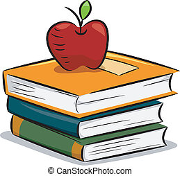 Apple Books - Illustration of an Apple Resting on a Pile of...