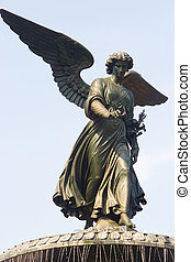 Bethesda Fountain, Central Park, NY - The Angel statue on...