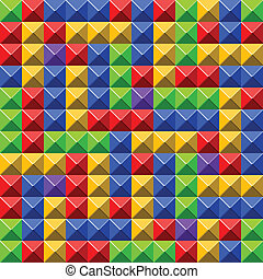 Pyramid tiles pattern - Colorful pyramid tiles pattern with...