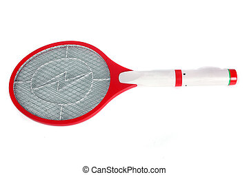 mosquito killer racket isolated on white background