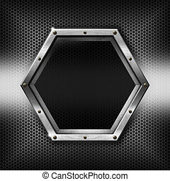 frame, metaal, Zeshoekig, mal, Zeshoeken