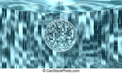 Disco Ball In Room Rotating
