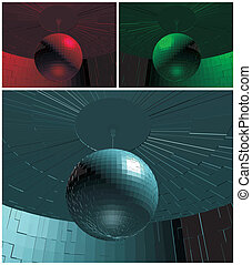 RGB Disco Ball In Room