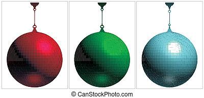 RGB Disco Ball On White Background