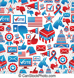 USA elections icons pattern - USA elections icon set...