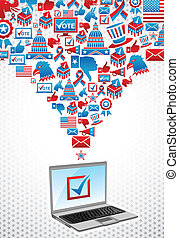 USA elections electronic voting - USA elections online...