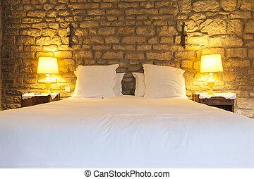 rustico, albergo, camera letto