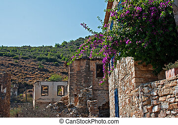 Old abandoned GreekTurkish village of Doganbey, Turkey