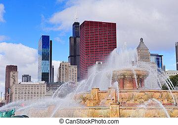 Buckingham, fuente,  chicago
