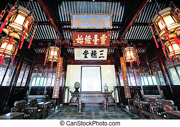 Shanghai old building - Old architecture interior in...