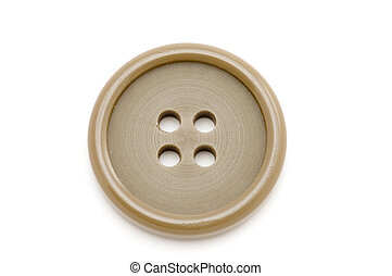 sew button - object on white sewing tool dress button