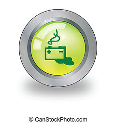 Web icon with battery sign