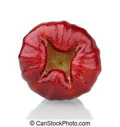 fundo, vermelho, rosÈ, maçã