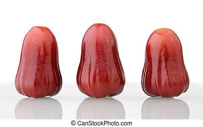 três, rosÈ, maçãs